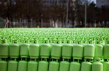 Bouteille de gaz superposées