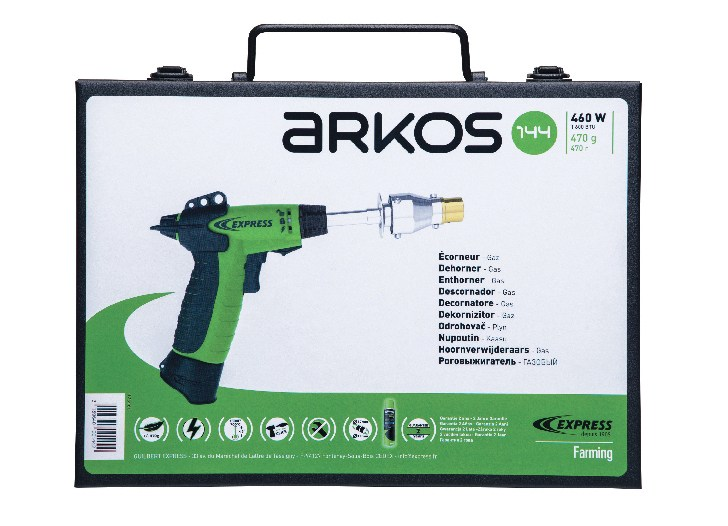 Arkos Gas Dehorner Cat. No. 144 in suitcase
