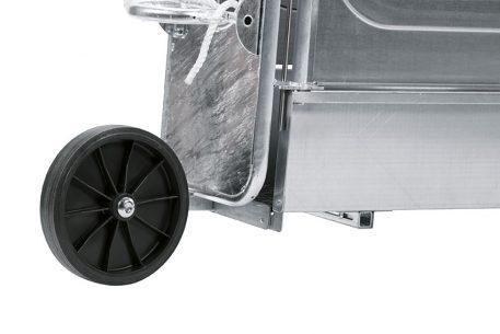 La roue du kit mobilité Réf. 47011 de la cage de contention Réf. 47009